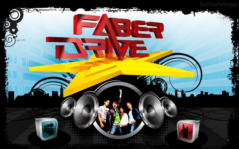 Torry Courte – Faber Drive Splash Page