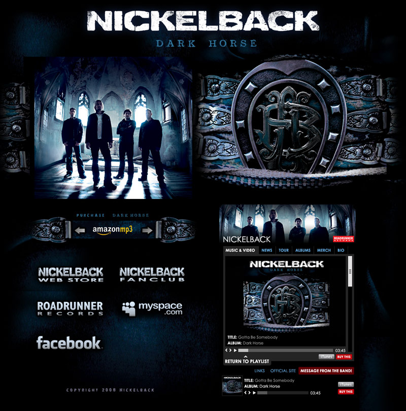 Image of Nickelback Dark Horse Layout Version two by Torry Courte