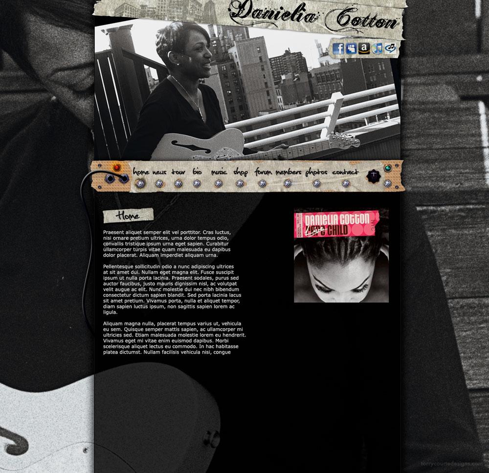 Danielia Cotton website designed by Torry Courte