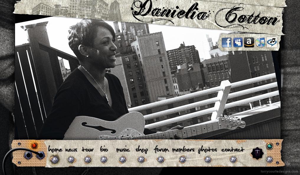 Danielia Cotton Website Layout – Torry Courte Designs
