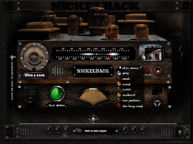 Image of Torry Courte - Nickelback Radio website design